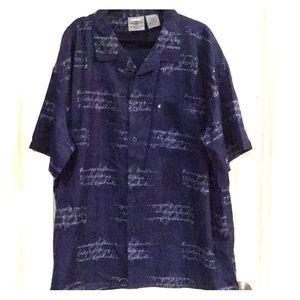 Men's Rocawear BIg & Tall blue 3X button up shirt.